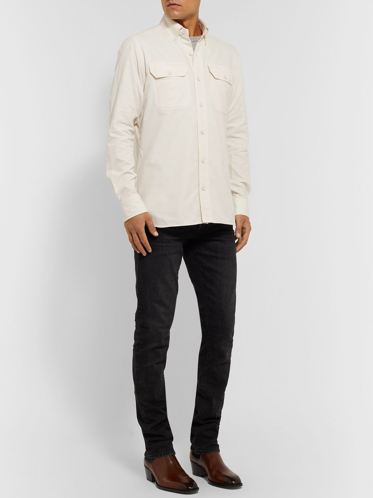 TOM FORD Slim-Fit Button-Down Collar Cotton-Corduroy Shirt