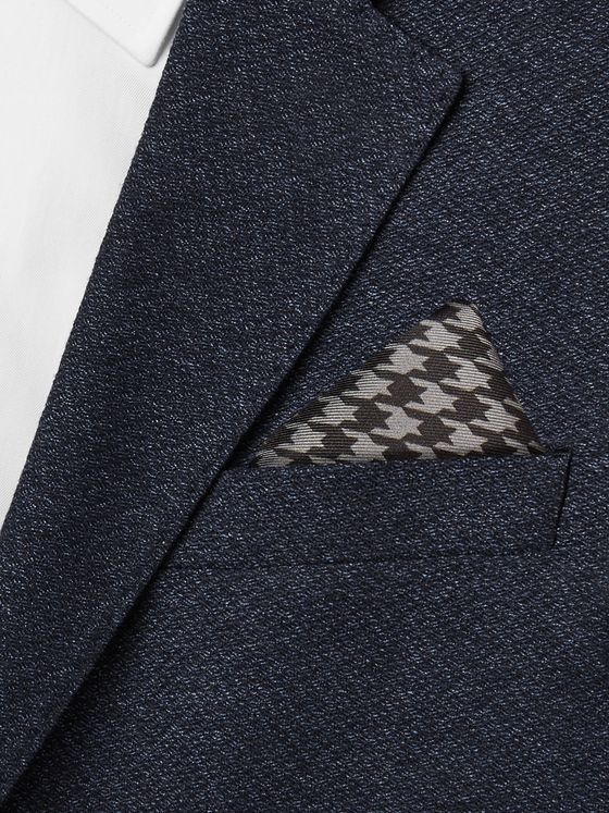 TOM FORD Houndstooth Silk-Twill Pocket Square