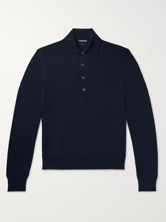 TOM FORD Slim-Fit Wool Polo Shirt