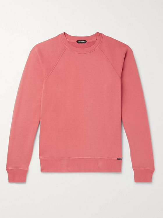 TOM FORD Loopback Cotton-Blend Jersey Sweatshirt