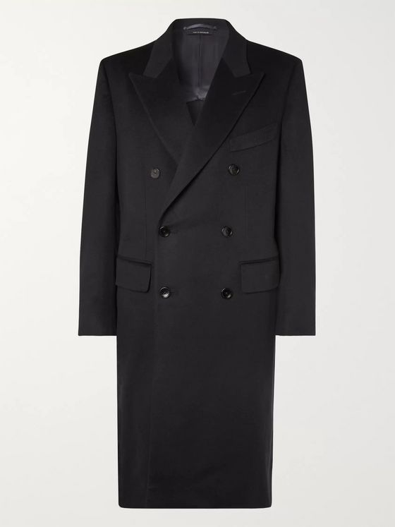 TOM FORD Double-Breasted Cashmere Overcoat