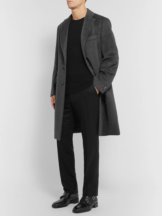 TOM FORD Black Shelton Slim-Fit Wool-Flannel Trousers