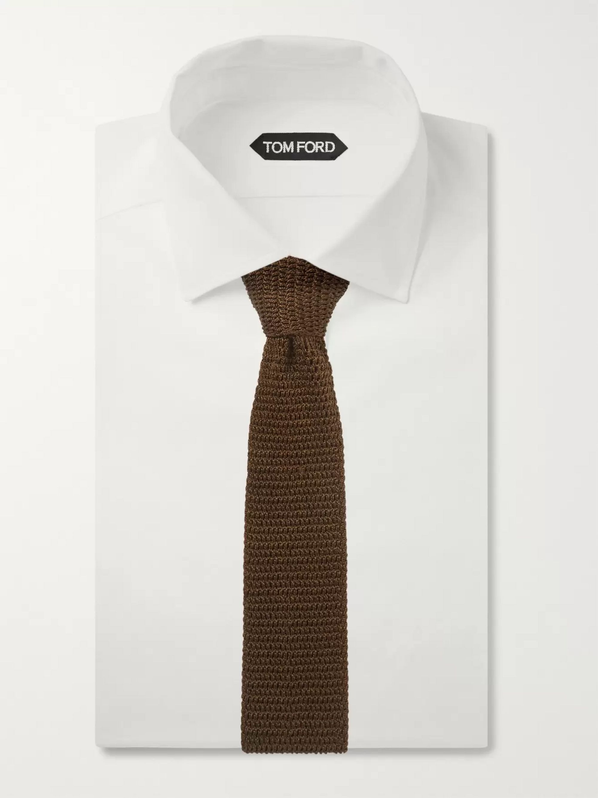 TOM FORD 7cm Knitted Silk Tie