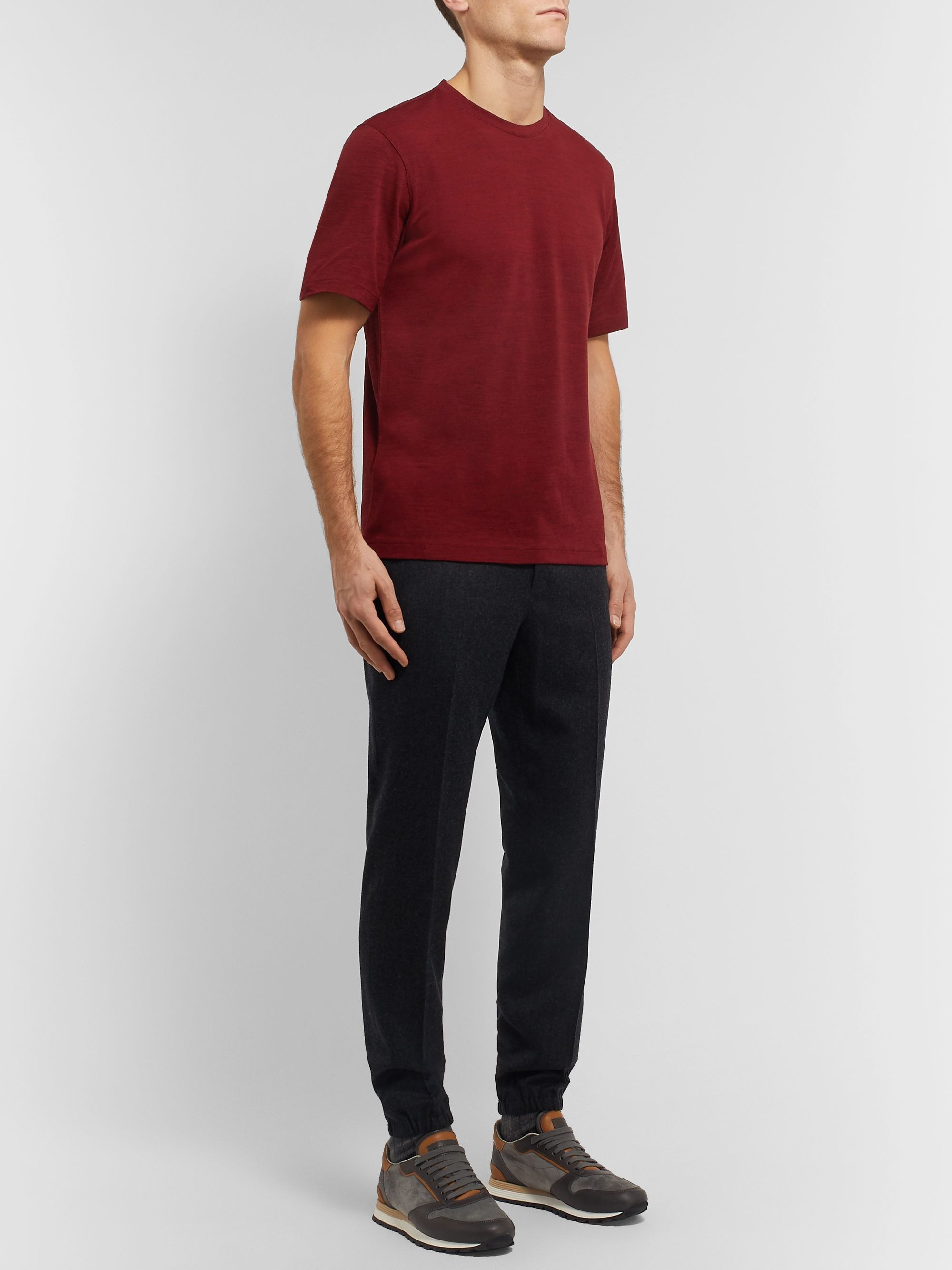 Z Zegna Mélange TECHMERINO Wool T-Shirt