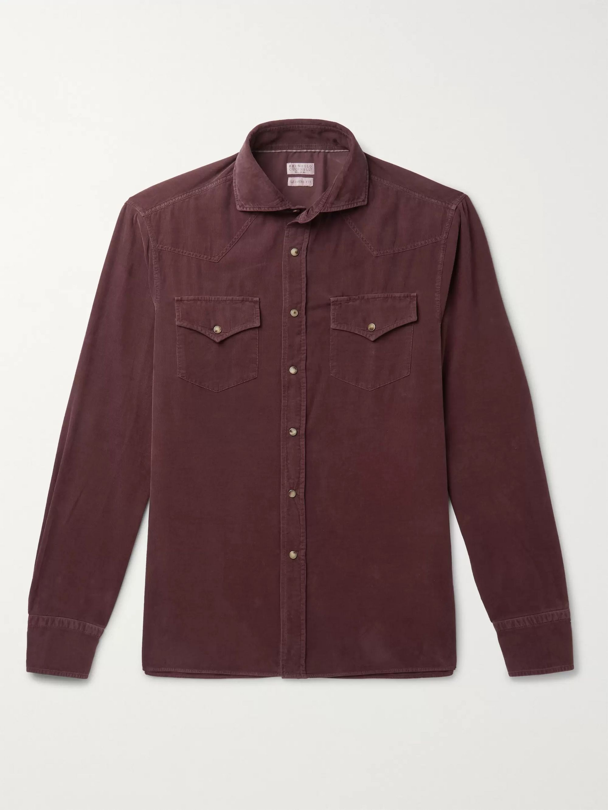 Brunello Cucinelli Cotton-Corduroy Western Shirt