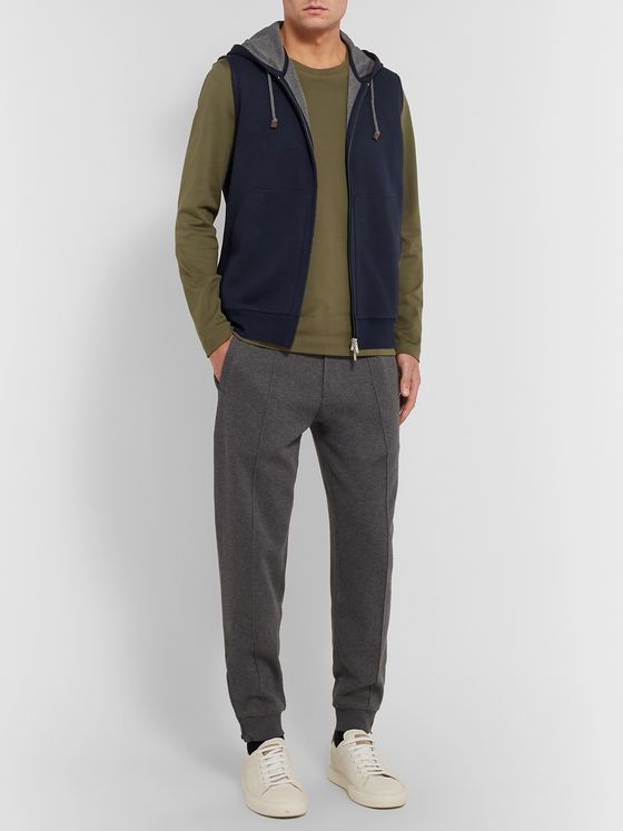 Brunello Cucinelli Cotton-Blend Jersey Gilet