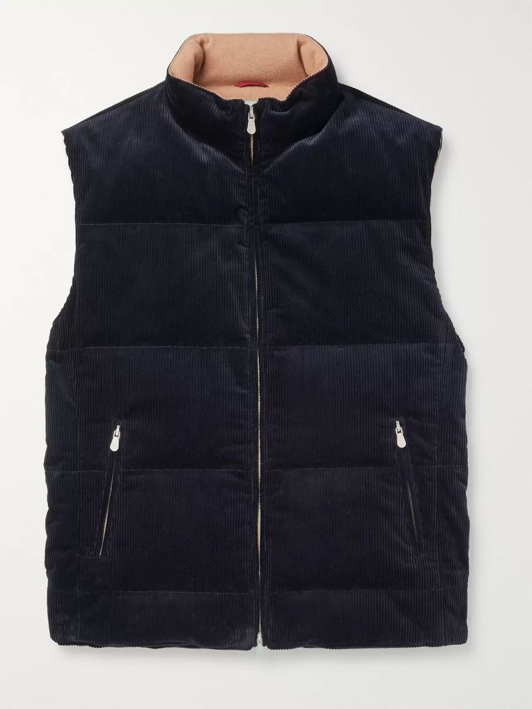 Brunello Cucinelli Quilted Cotton-Corduroy Gilet