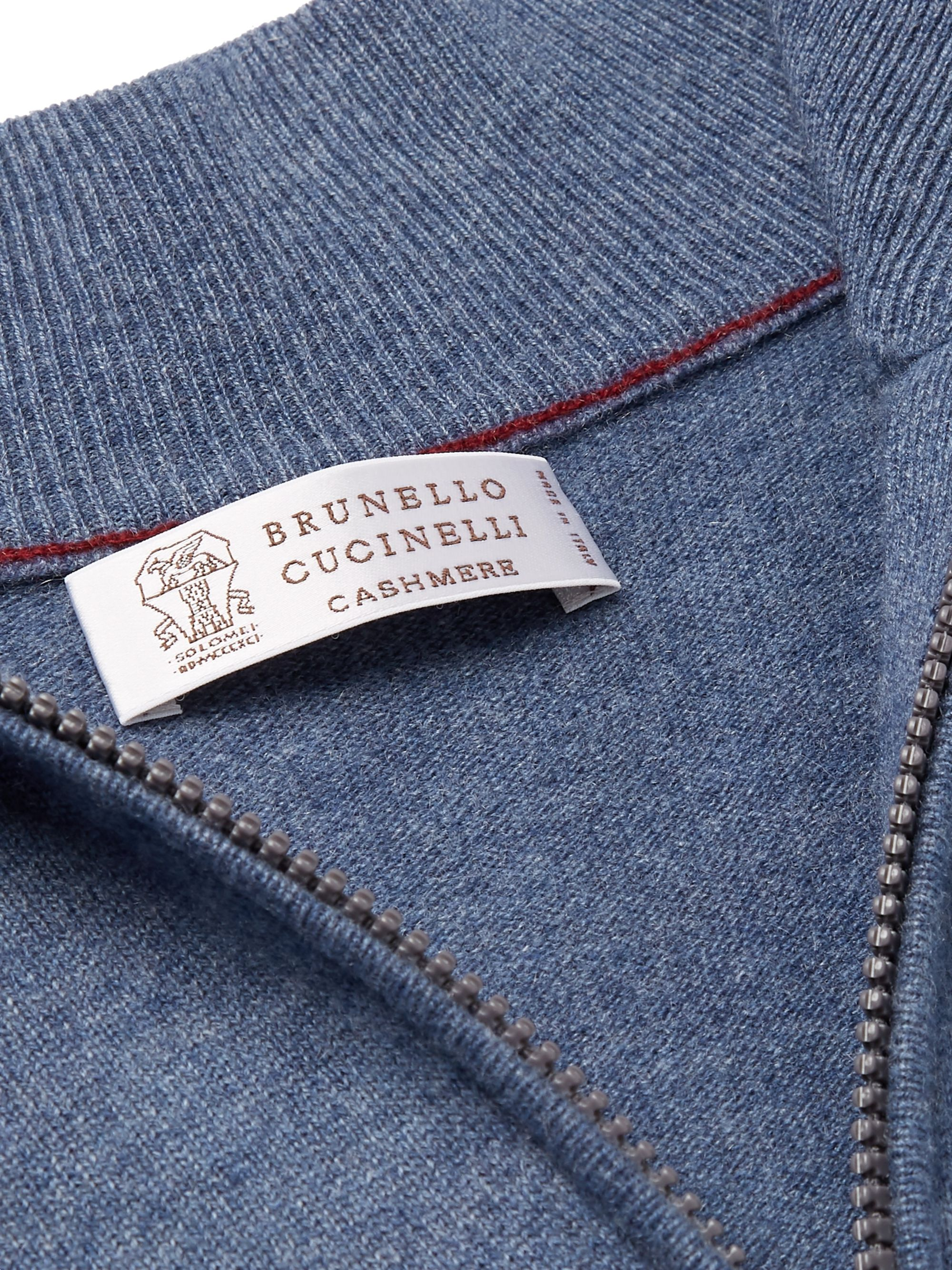 Brunello Cucinelli Cashmere Half-Zip Sweater