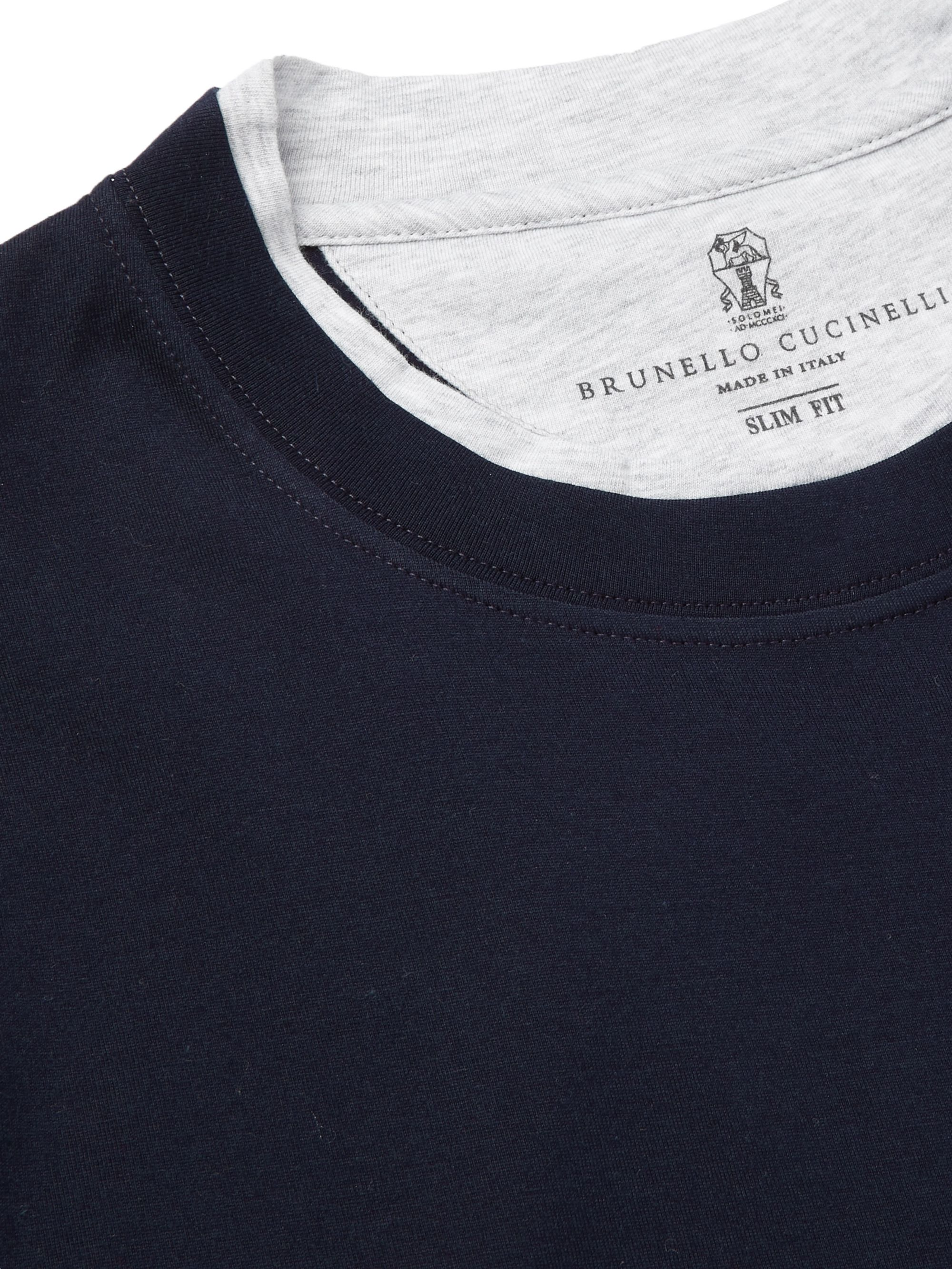 Brunello Cucinelli Slim-Fit Layered Cotton-Jersey T-Shirt