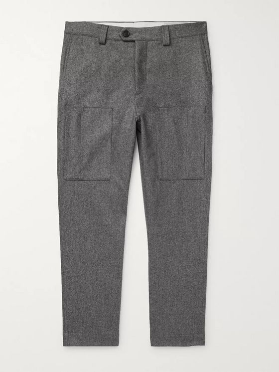 Brunello Cucinelli Wool-Flannel Trousers