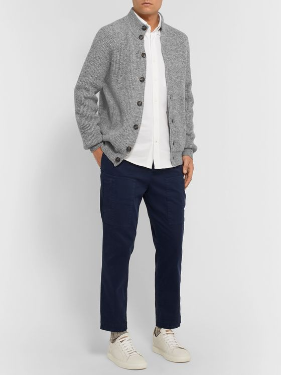 Brunello Cucinelli Ribbed Mélange Virgin Wool-Blend Cardigan