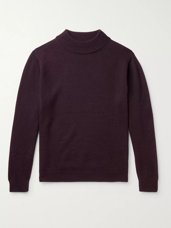 Camoshita Wool Mock-Neck Sweater