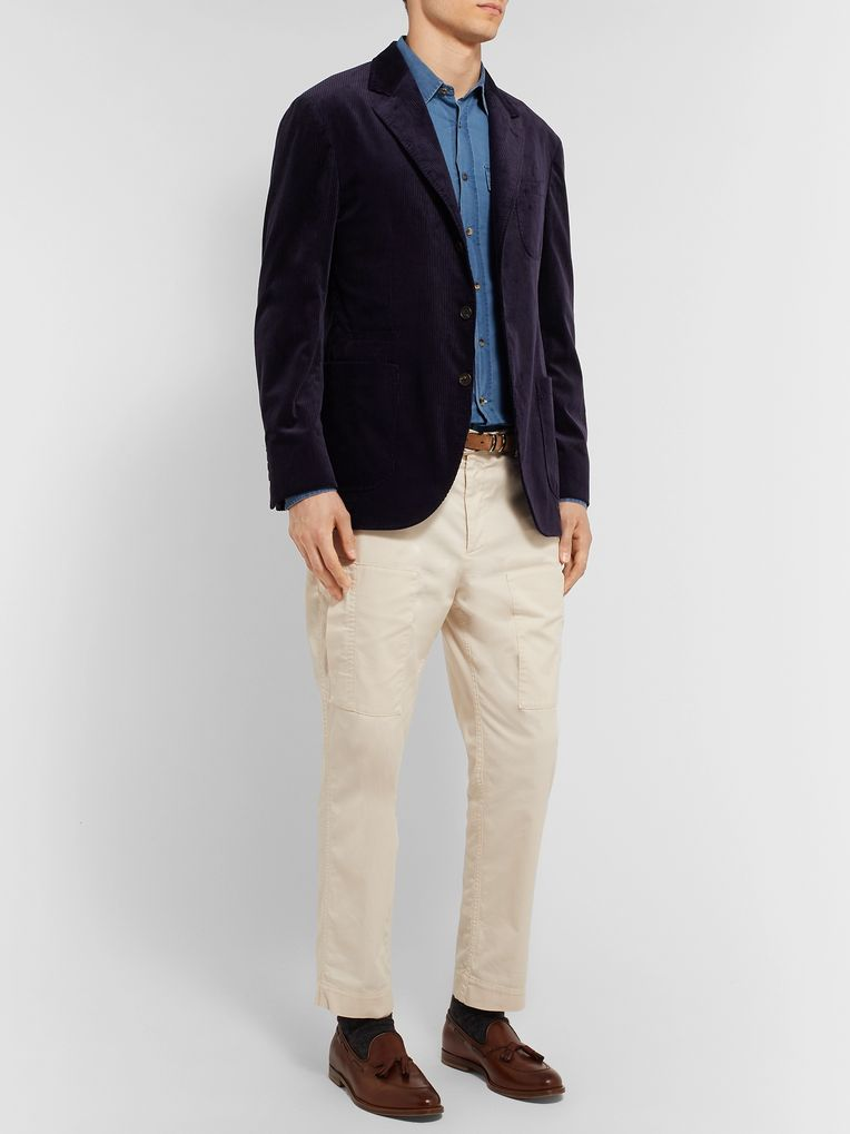 Brunello Cucinelli Slim-Fit Cotton-Chambray Shirt
