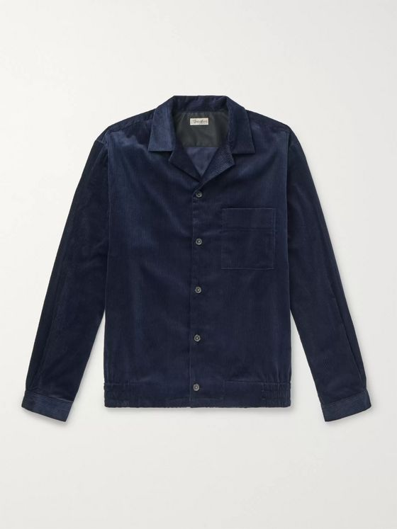 Camoshita Camp-Collar Cotton-Corduroy Overshirt