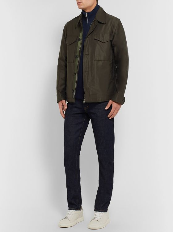 Brunello Cucinelli Slim-Fit Wool-Blend Zip-Up Cardigan