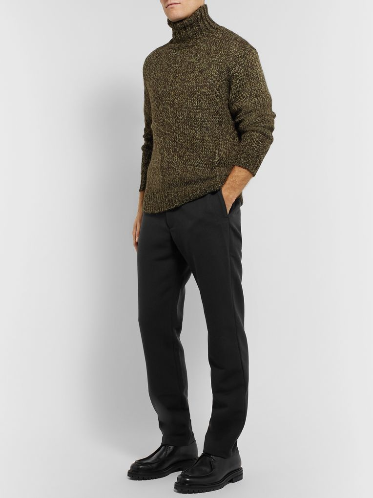 Camoshita Tapered Wool-Blend Trousers