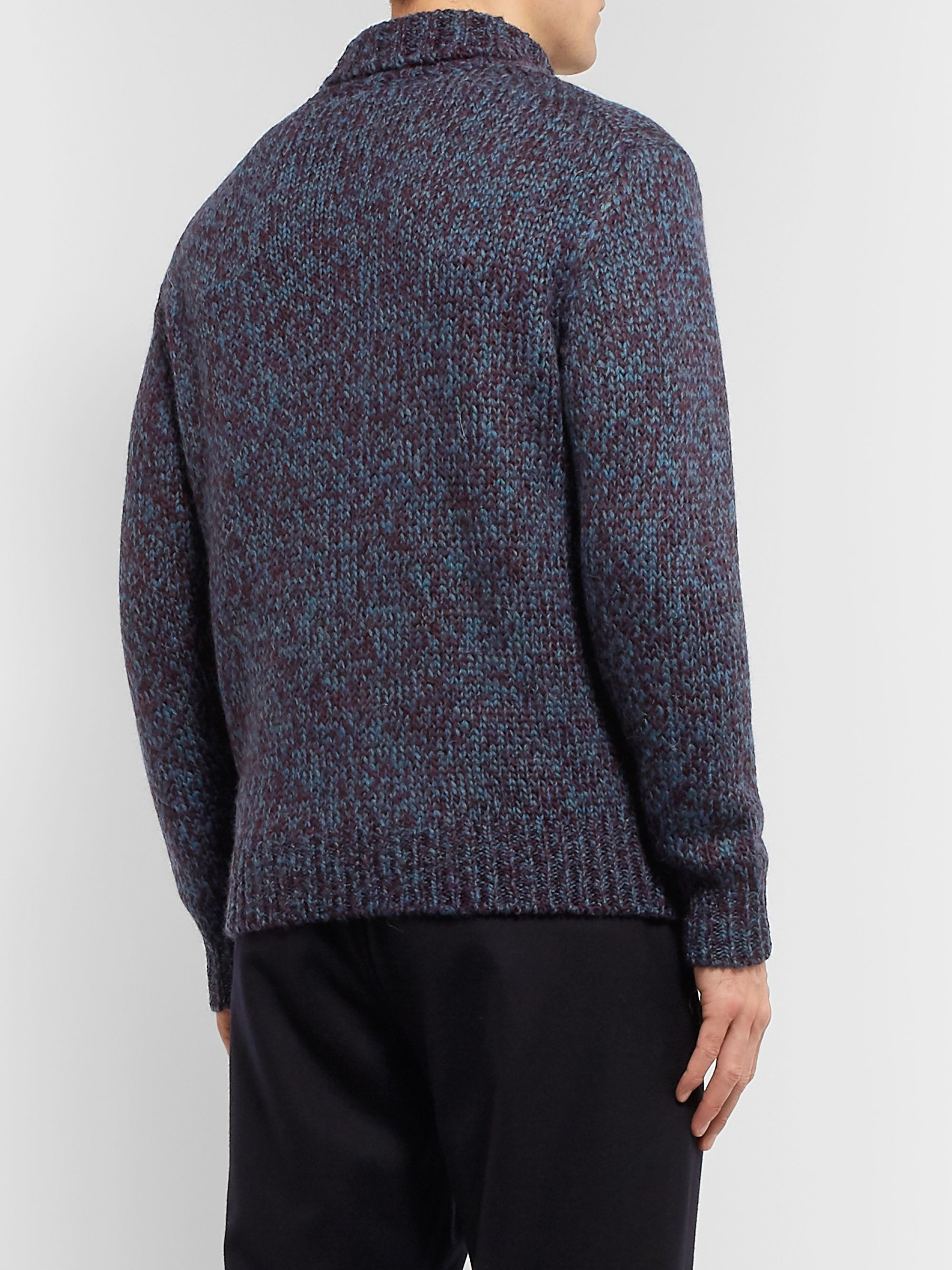 Camoshita Mélange Knitted Rollneck Sweater