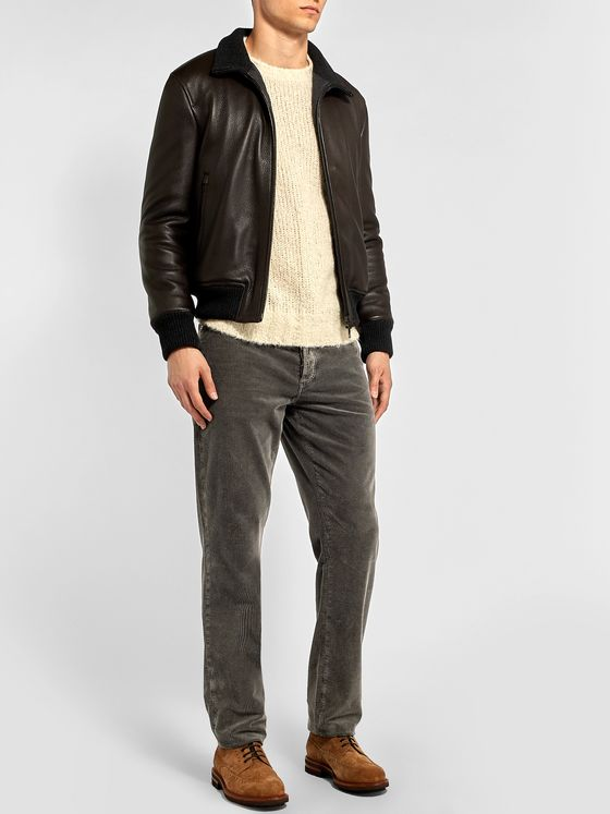 Brunello Cucinelli Slim-Fit Tapered Cotton-Corduroy Trousers