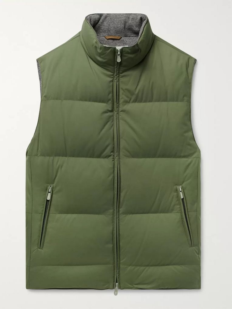 Brunello Cucinelli Quilted Nylon Down Gilet