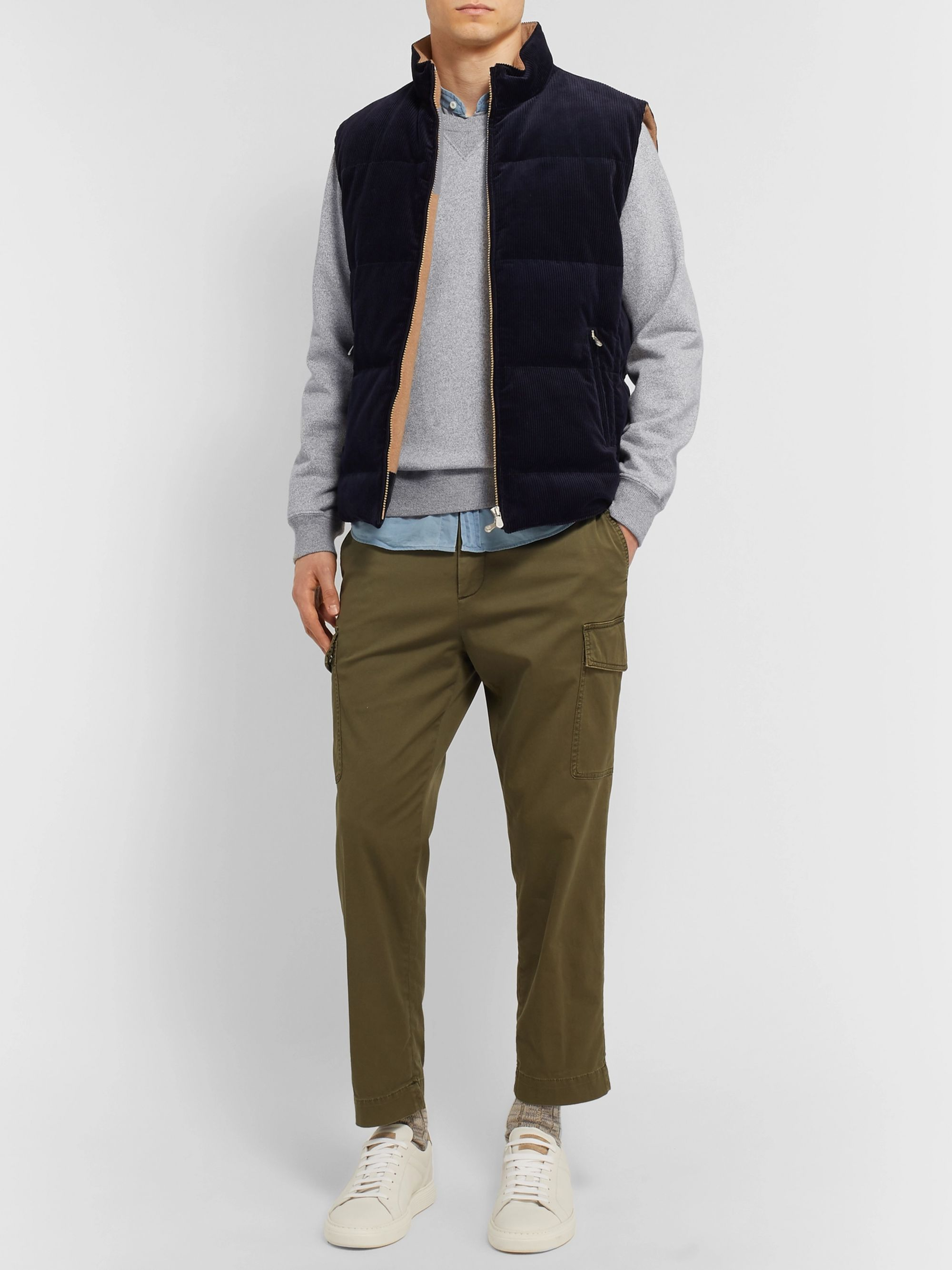 Brunello Cucinelli Mélange Loopback Cotton-Jersey Sweatshirt