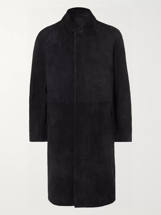 THE ROW Parker Slim-Fit Suede Coat
