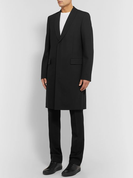 The Row Leonhard Slim-Fit Shawl-Collar Virgin Wool Overcoat