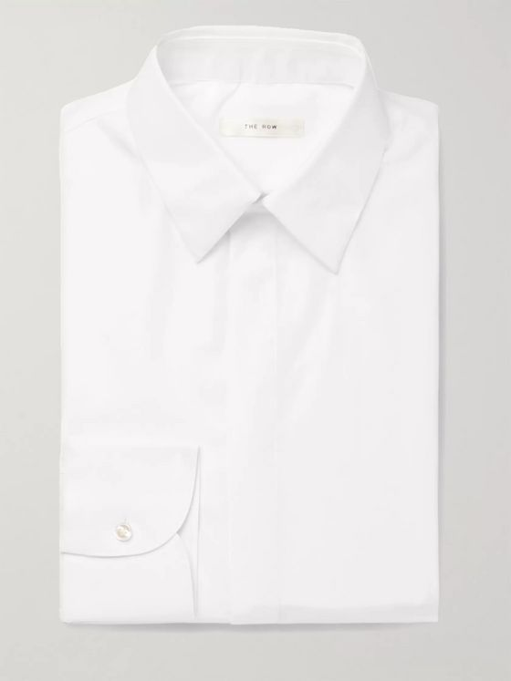THE ROW Ethan White Cotton Shirt