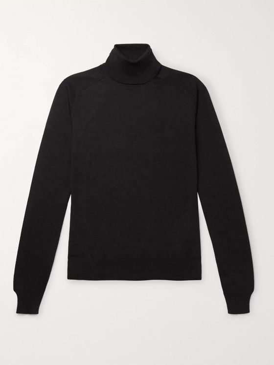 The Row Ronald Slim-Fit Wool Rollneck Sweater