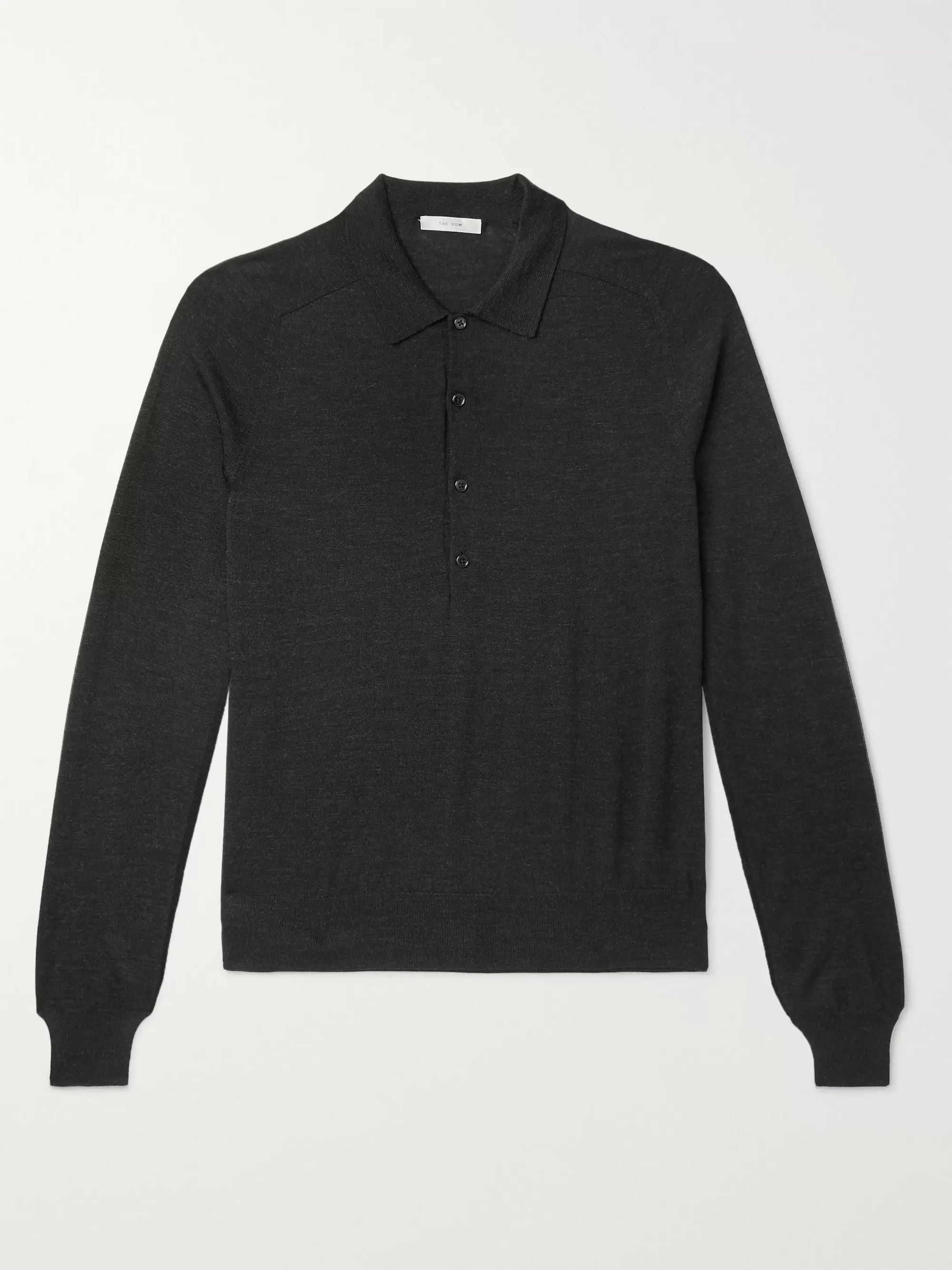 The Row Dylan Merino Wool Polo Shirt