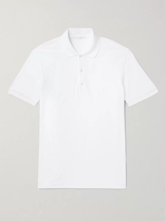 The Row Nahor Cotton-Piqué Polo Shirt