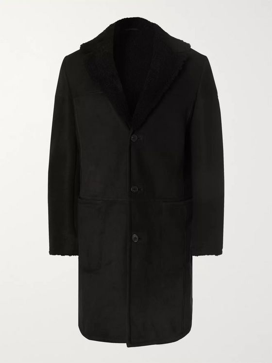 THE ROW Rowan Slim-Fit Shearling Coat