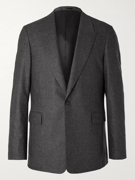 The Row Grey Mason Mélange Wool-Blend Suit Jacket