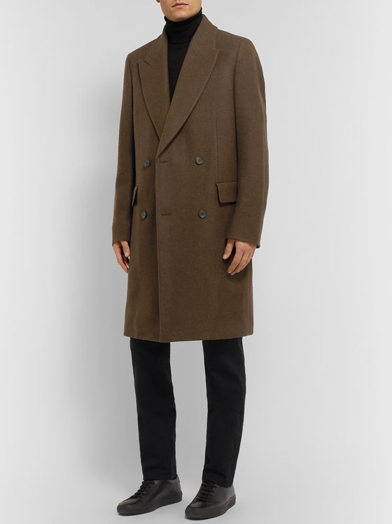 The Row Mickey Slim-Fit Double-Breasted Yak Coat