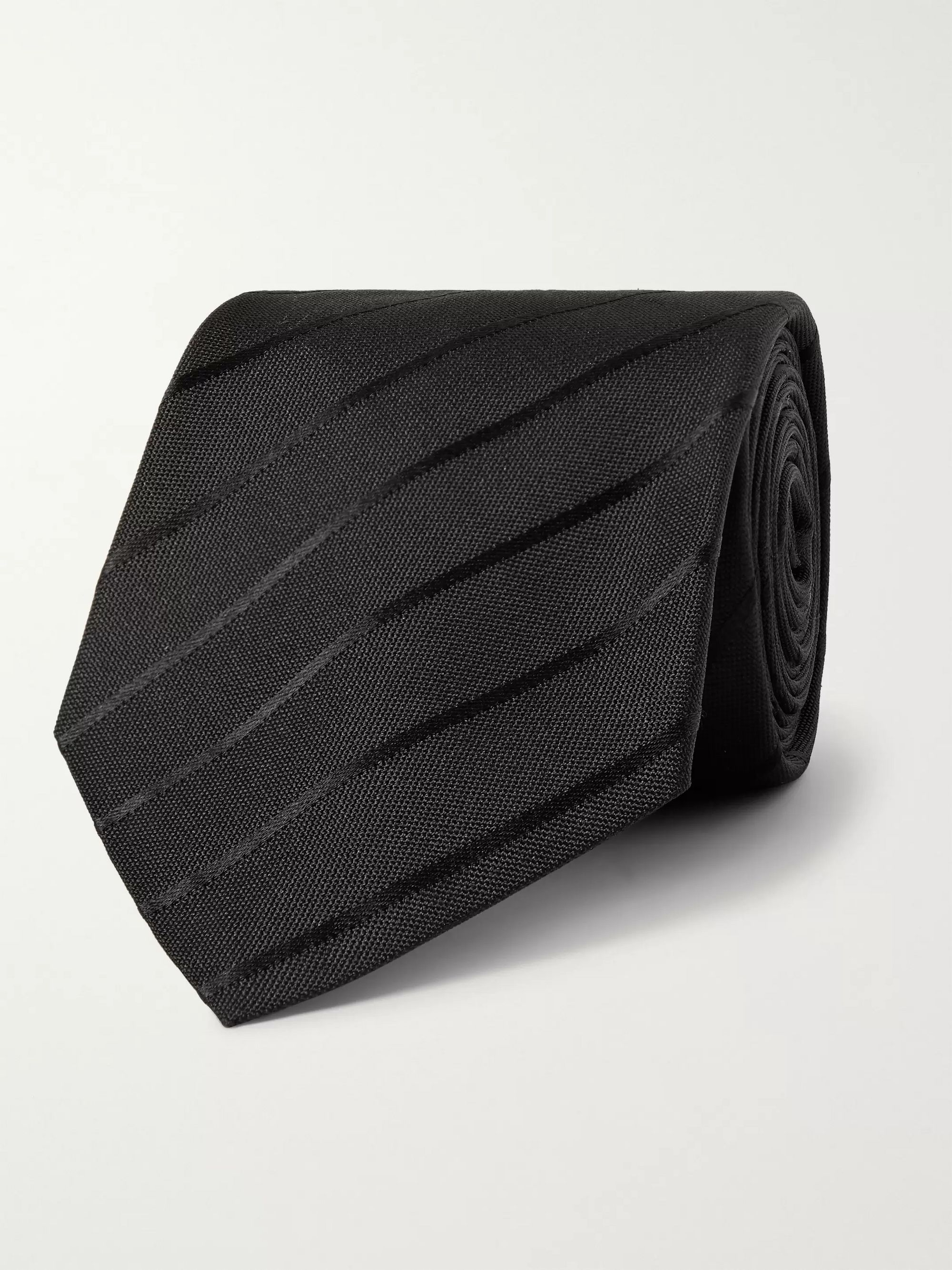 The Row Elvin 8.5cm Striped Silk-Jacquard Tie