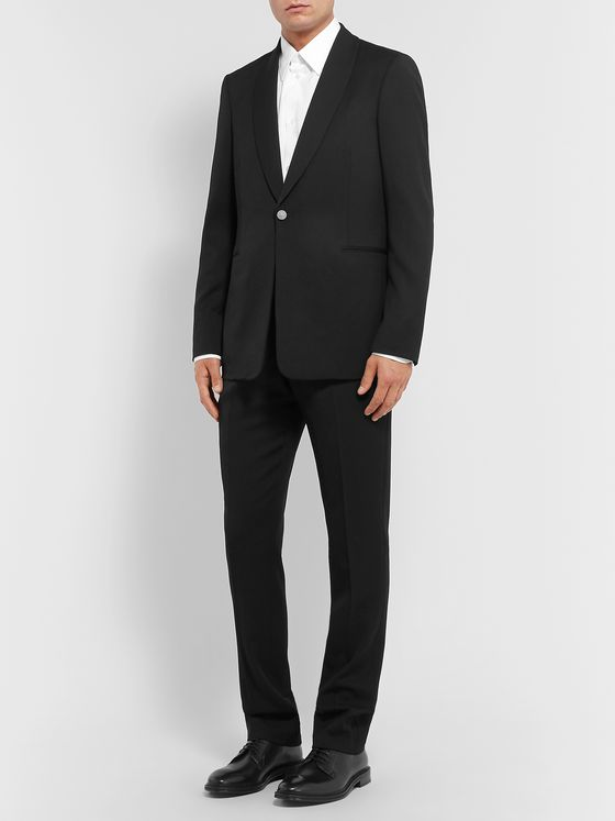 THE ROW Archer Black Slim-Fit Grain de Poudre Virgin Wool Tuxedo Jacket