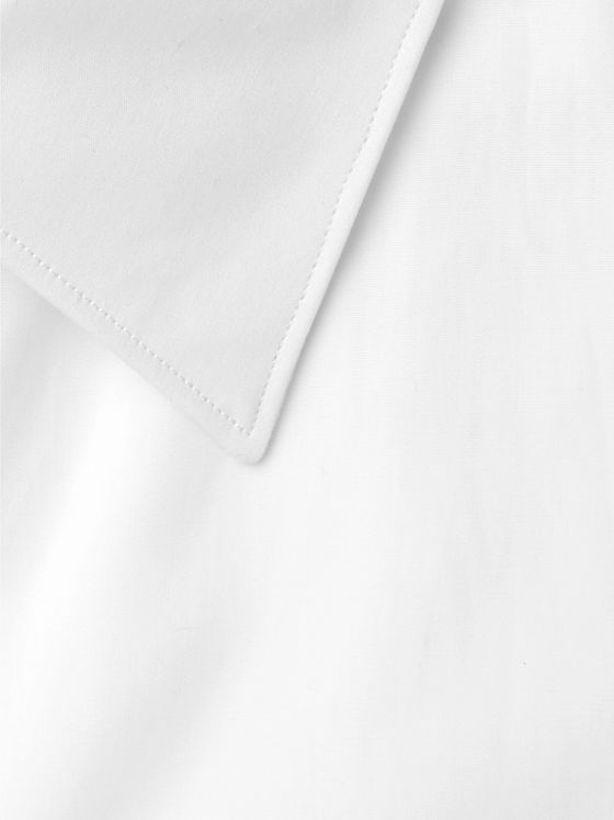 The Row White Jasper Slim-Fit Cotton-Poplin Shirt