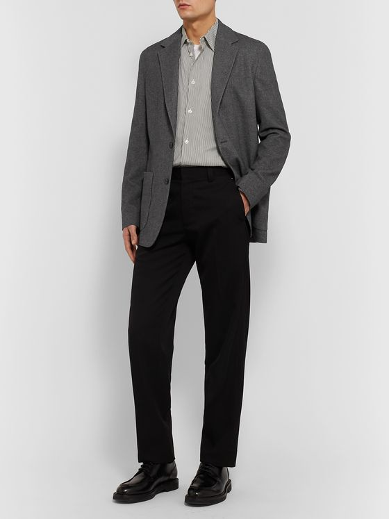 The Row Grey Walter Mélange Silk and Cashmere-Blend Blazer