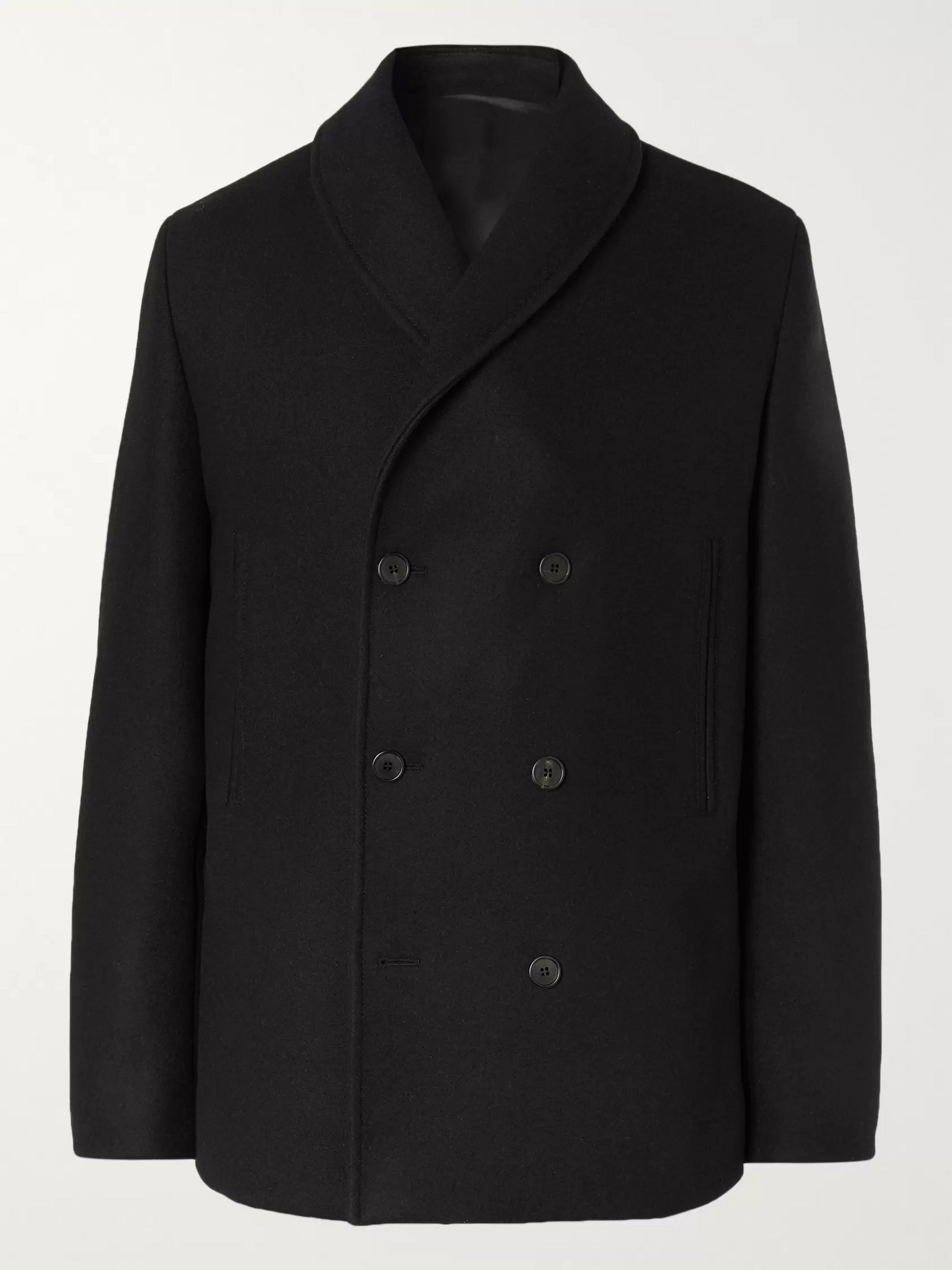 The Row Andrew Wool-Blend Felt Peacoat