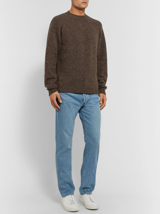 The Row Ezra Mélange Camel Hair-Blend Sweater