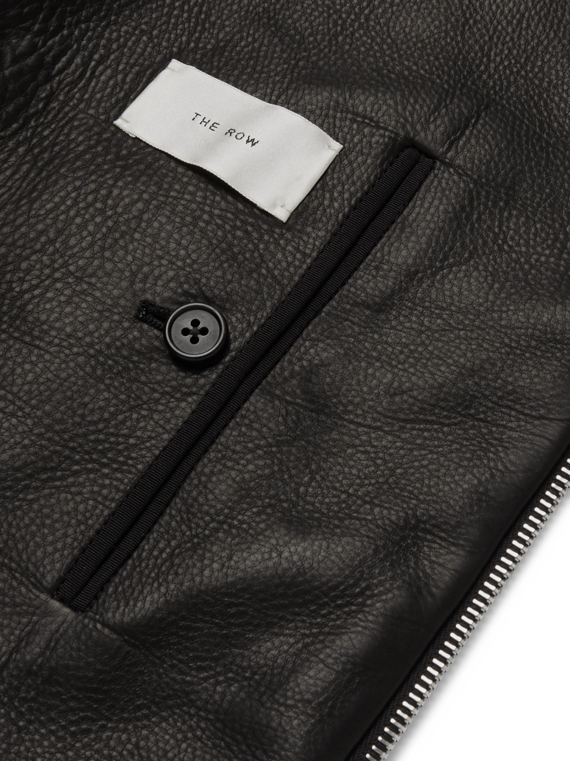 The Row Cole Slim-Fit Leather Bomber Jacket