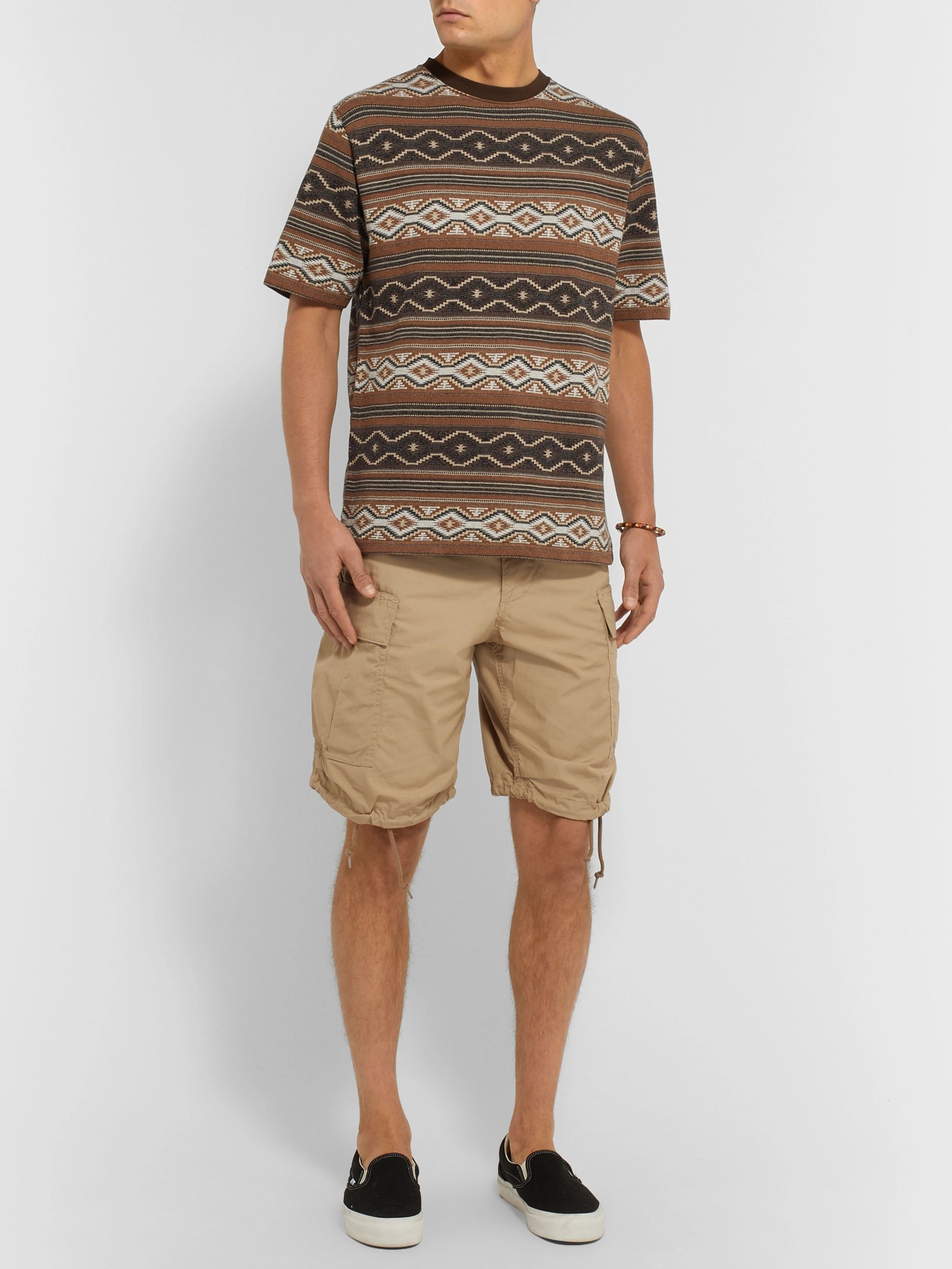 Beams Plus Cotton-Jacquard T-Shirt