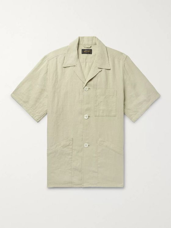 Beams Plus Camp-Collar Linen Shirt