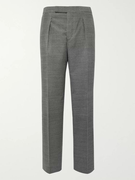 Camoshita Light-Grey Wool-Blend Corduroy Suit Trousers