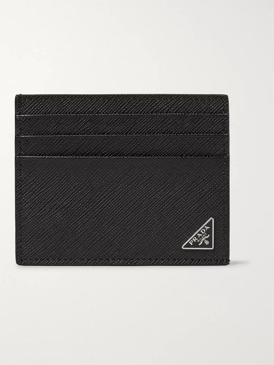 Prada Cross-Grain Leather Cardholder