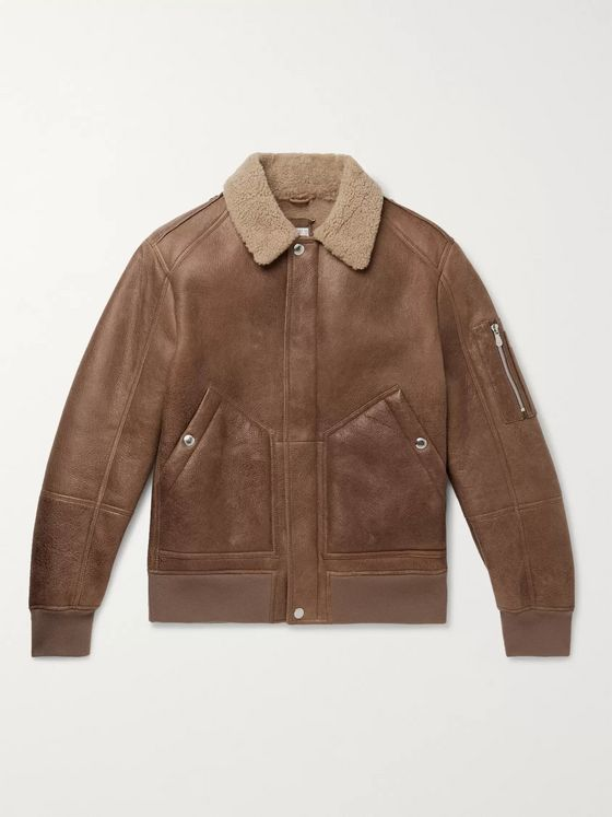 Brunello Cucinelli Shearling Aviator Jacket