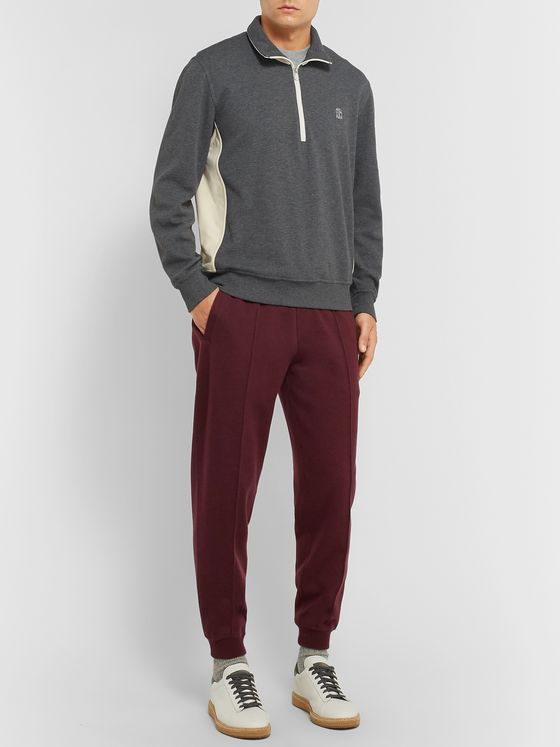 Brunello Cucinelli Tapered Cashmere-Blend Jersey Sweatpants