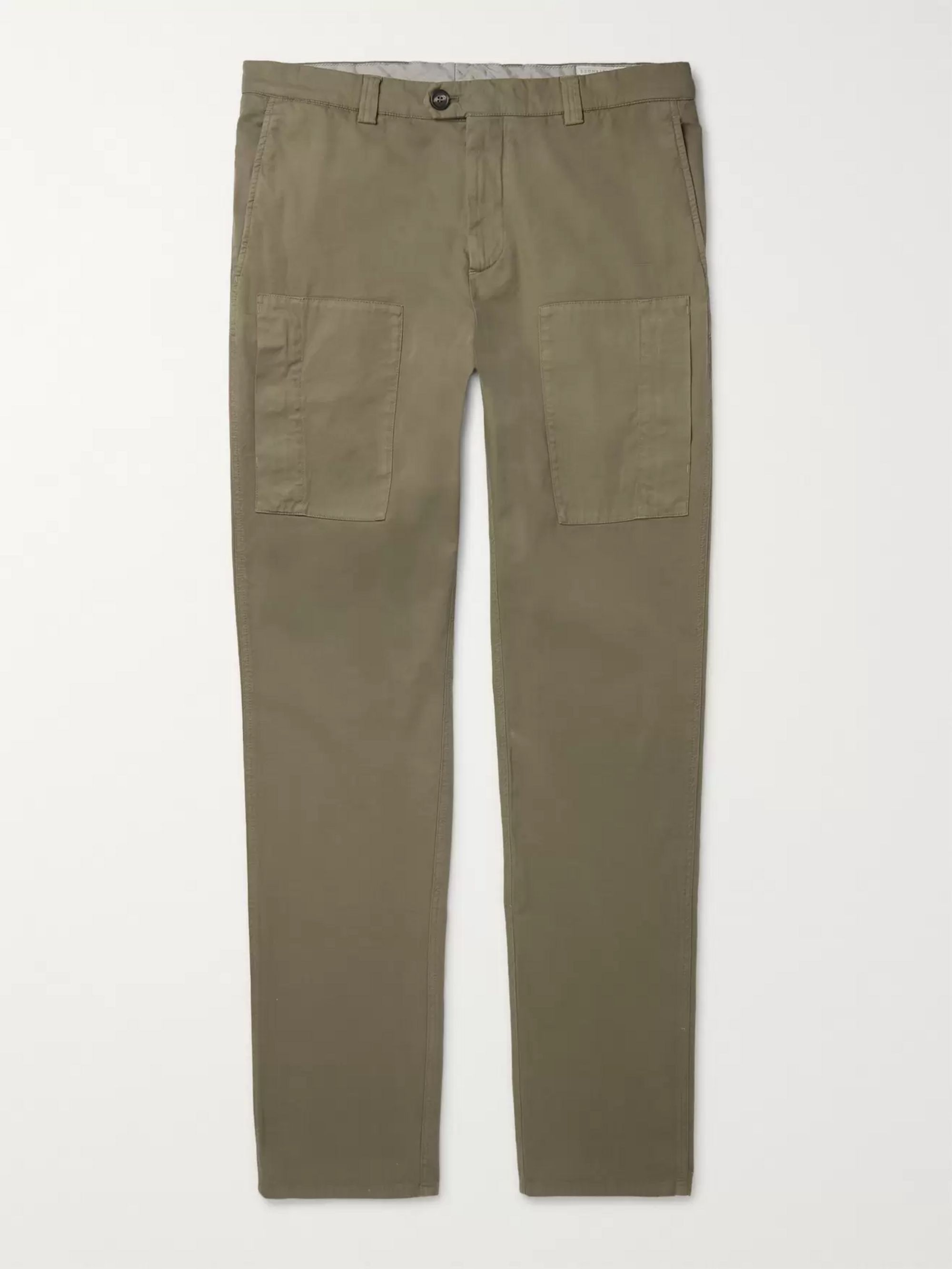 Brunello Cucinelli Slim-Fit Garment-Dyed Cotton-Blend Twill Trousers