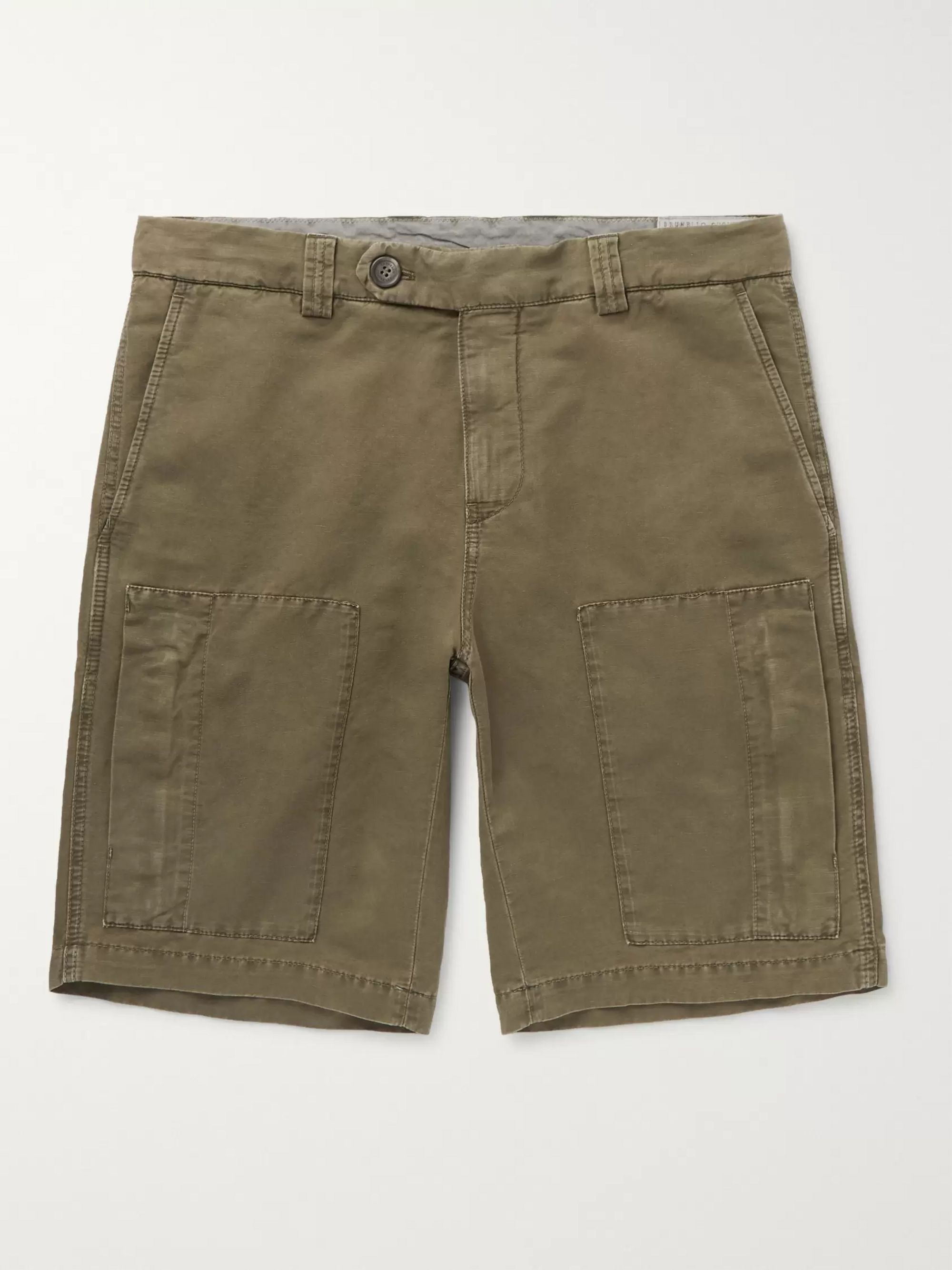 Brunello Cucinelli Linen and Cotton-Blend Cargo Shorts