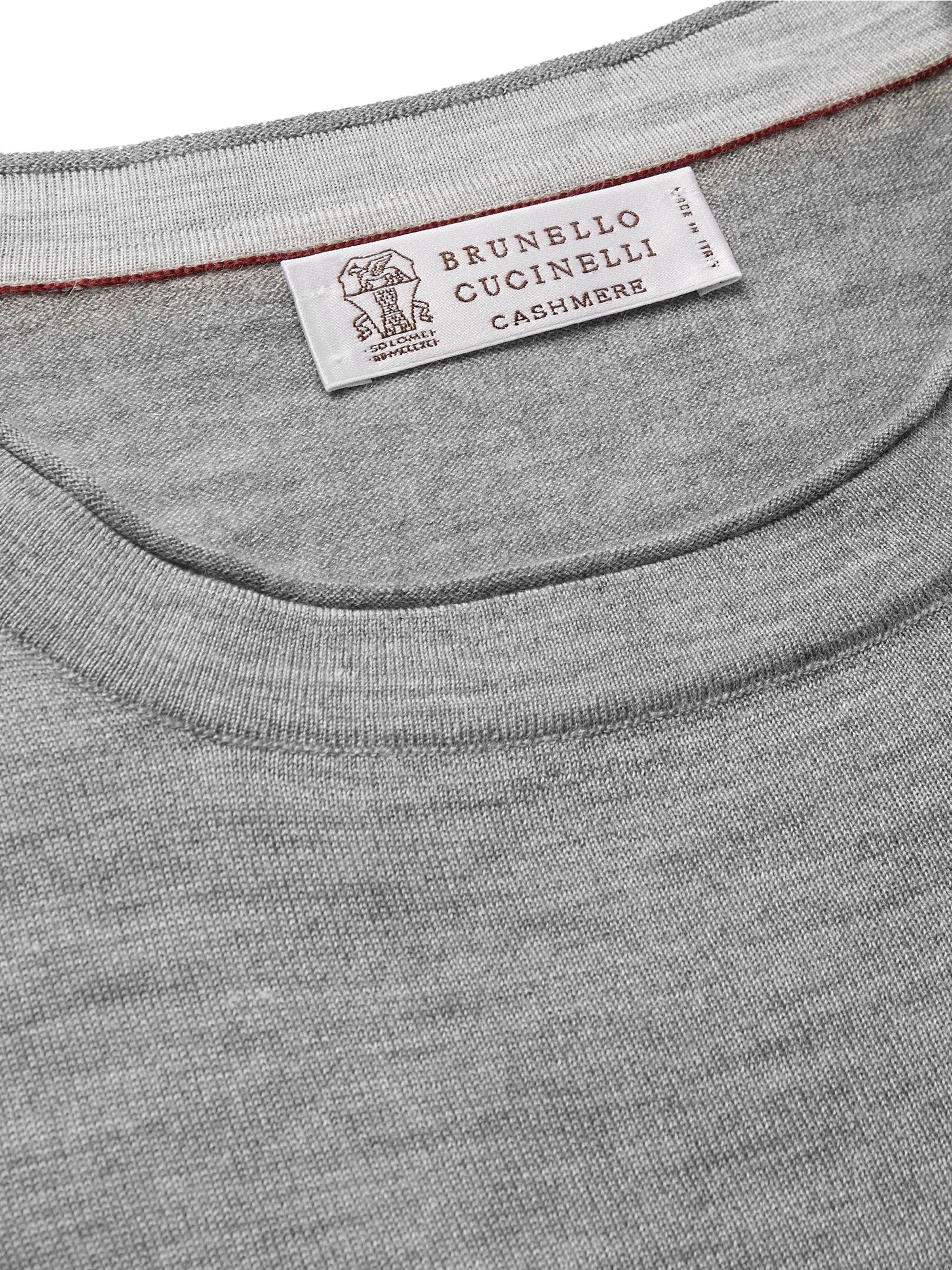 Brunello Cucinelli Mélange Cashmere and Silk-Blend Sweater