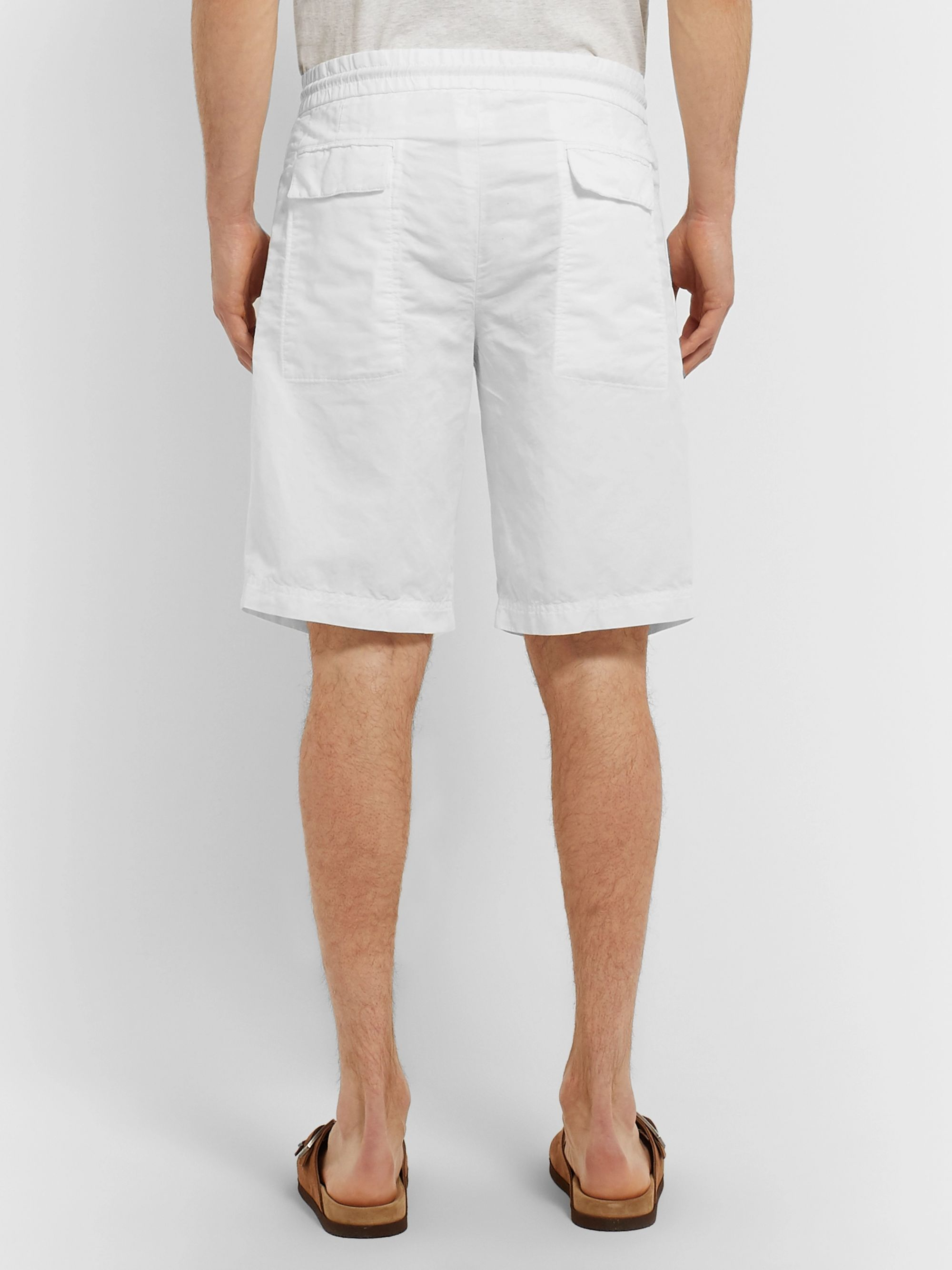 Brunello Cucinelli Linen and Cotton-Blend Canvas Drawstring Shorts